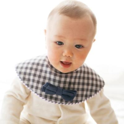 MARLMARL 圍兜甜點系列/寶藍格紋領結