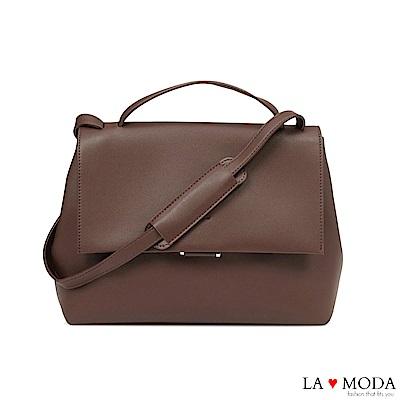 La Moda 經典不敗高觸感大容量肩背斜背包