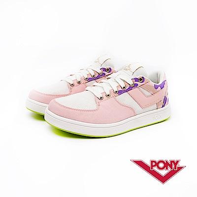 【PONY】ATOP EG系列-迷彩風格滑板鞋款-女-粉