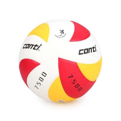 conti 5號日本頂級超級細纖纖維貼布排球 CONTI 紅黃白