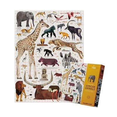 美國Crocodile Creek 動物圖鑑主題盒拼圖 - 非洲動物