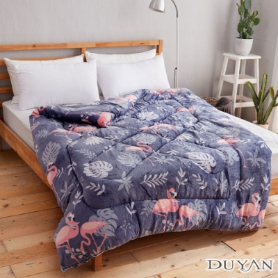 DUYAN 竹漾-100%法蘭絨暖暖被-紫羅蘭紅鶴