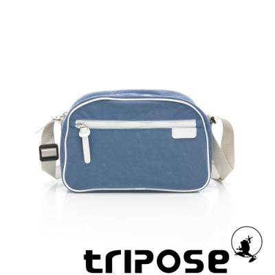 tripose PIPE系列滾邊梯型斜背包 水藍