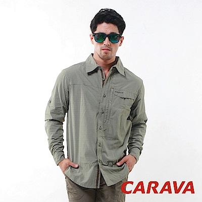 CARAVA 《男款3M排汗速乾襯衫》(暗橄綠)