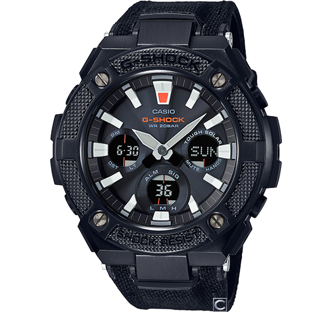 G-SHOCK 帥氣軍風太陽能腕錶(GST-S130BC-1A) 52.4mm