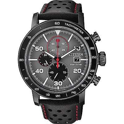 CITIZEN 星辰 光動能賽車計時碼錶(CA0645-15H)-灰x黑/43mm