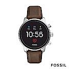FOSSIL EXPLORIST HR 第4代智慧型手錶-皮錶帶-咖啡