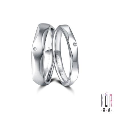 K OR蔻兒 愛情的樣子鑽石/白鋼成對戒指