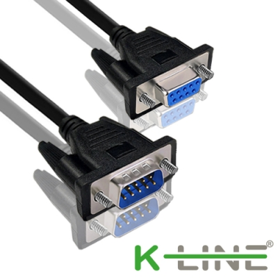 K-Line RS232串口(交叉)DB9 to DB9傳輸線 公對母/5M