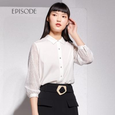 EPISODE - 氣質優雅蕾絲透膚設計襯衫上衣