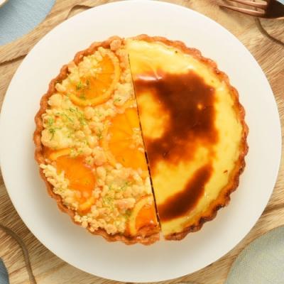亞尼克雙享派 橙香起司烤布丁派6吋