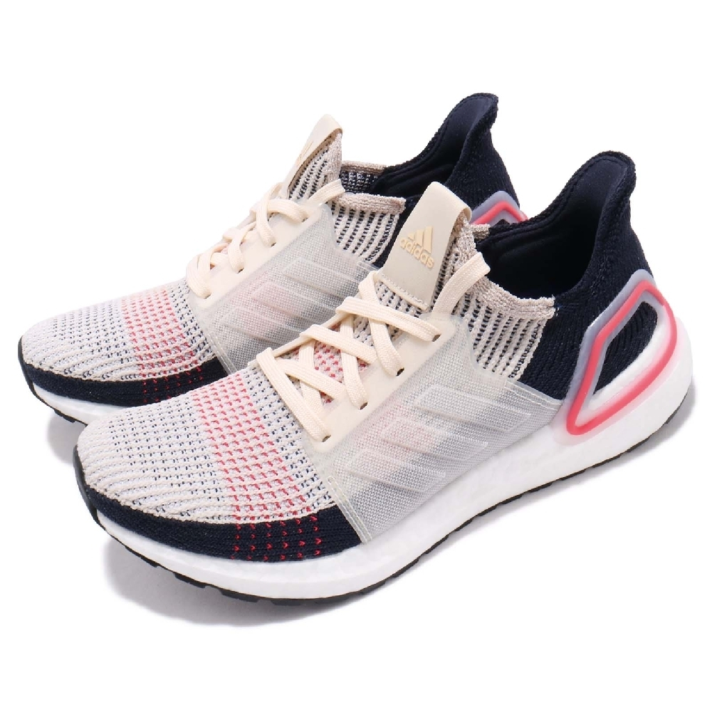 ADIDAS UltraBOOST 19 W 女跑步鞋 米白藍