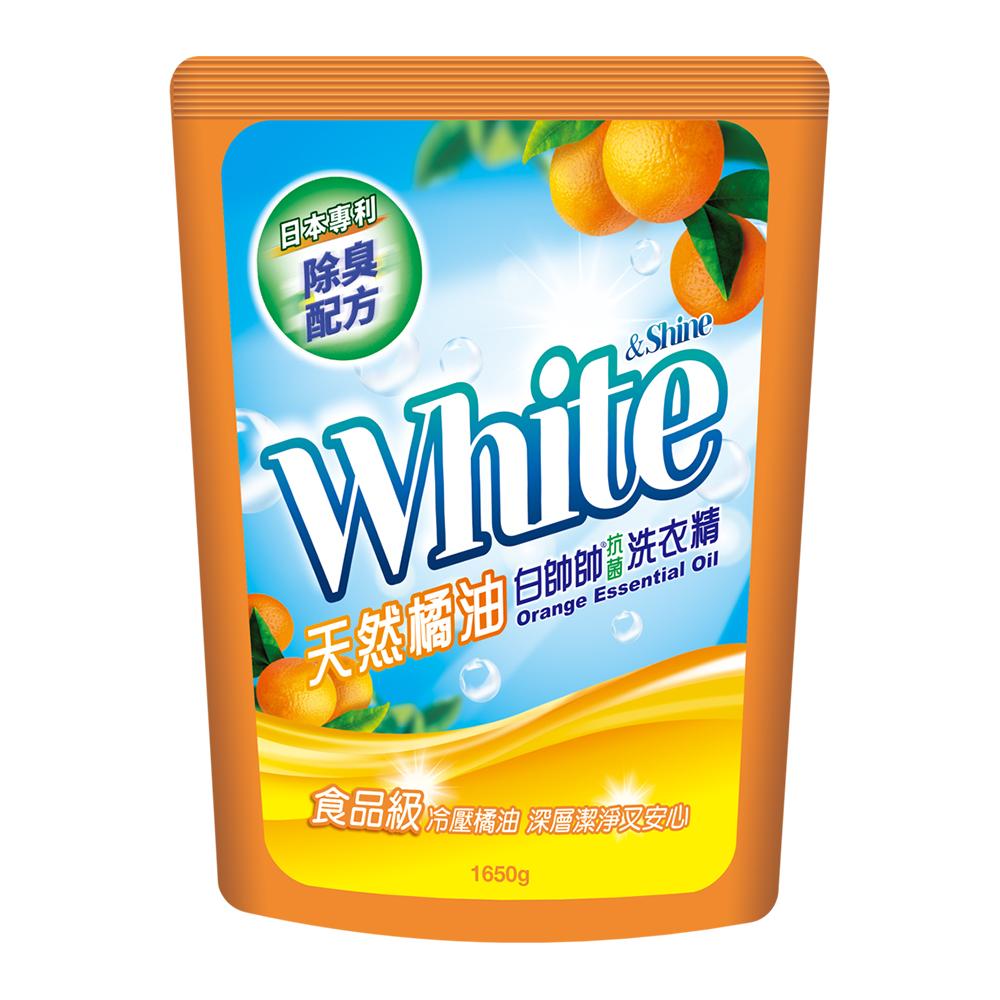 白帥帥 天然橘油抗菌洗衣精-補充包1650g