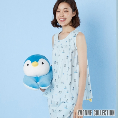 Yvonne Collection 企鵝彎型抱枕-水藍