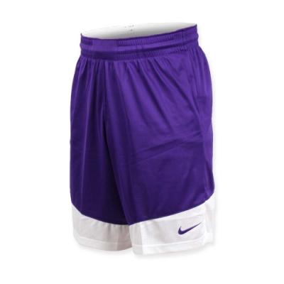 NIKE 男籃球針織短褲-路跑 慢跑 訓練 五分褲 紫白