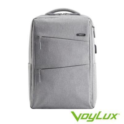 VoyLux 伯勒仕-極簡系列幾何線條電腦後背包-冰灰色3585008