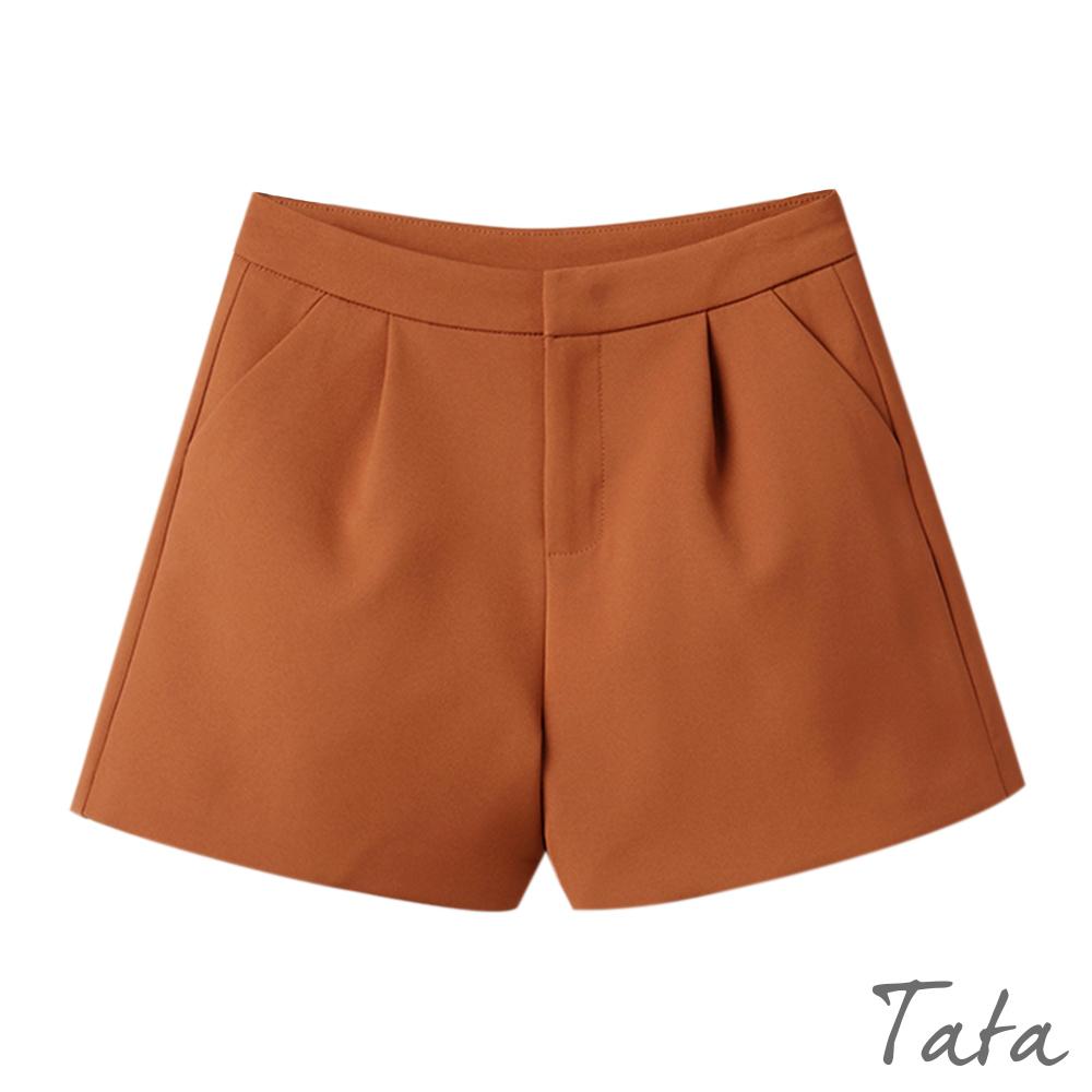 A字寬口西裝短褲 共二色 TATA