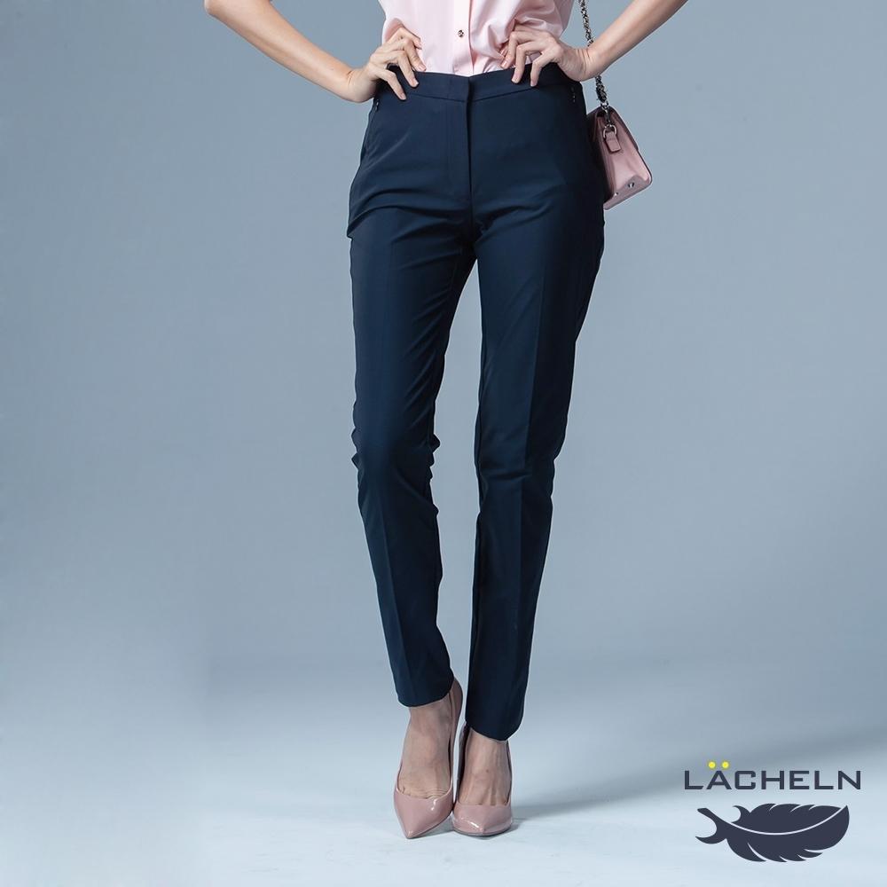 【LACHELN】女款-抗UV吸濕排汗仕女長褲-藏藍色(L91W704)