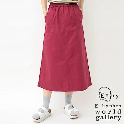 E hyphen 腰際鬆緊口袋貝克裙