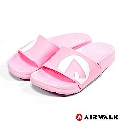 【AIRWALK】 防滑耐磨室內外拖鞋(童)-淺粉