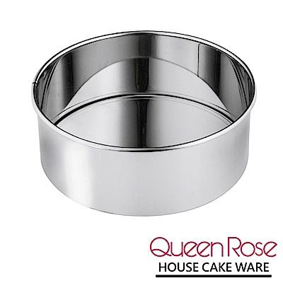 日本霜鳥QueenRose 21cm活動式不鏽鋼圓型蛋糕模-(L)-日本製