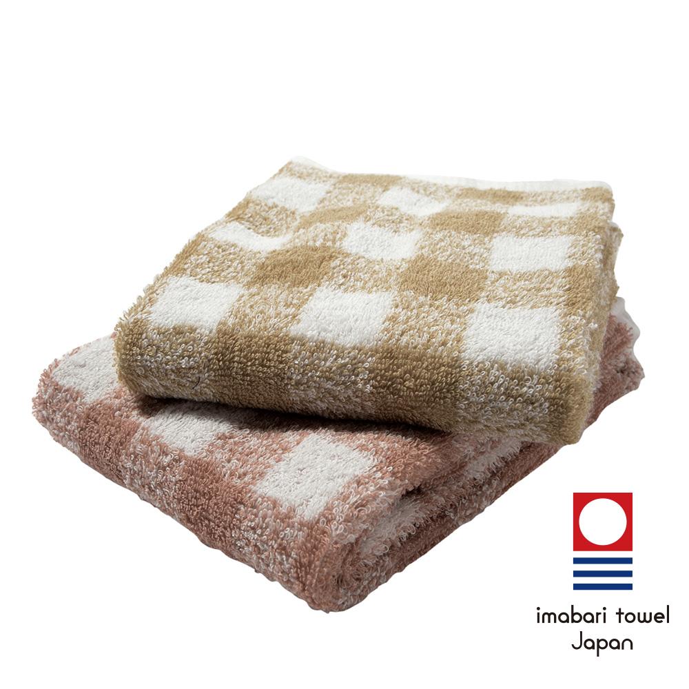 日本今治 純天然有機棉無染色毛巾-方格(超值2入組)