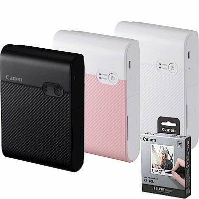 Canon SELPHY SQUARE QX10 掌上型相印機 + 贈 20張相片貼紙 (公司貨)