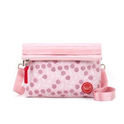 ELLE Active 法式櫻桃系列-輕薄側背包/斜背包-粉紅色