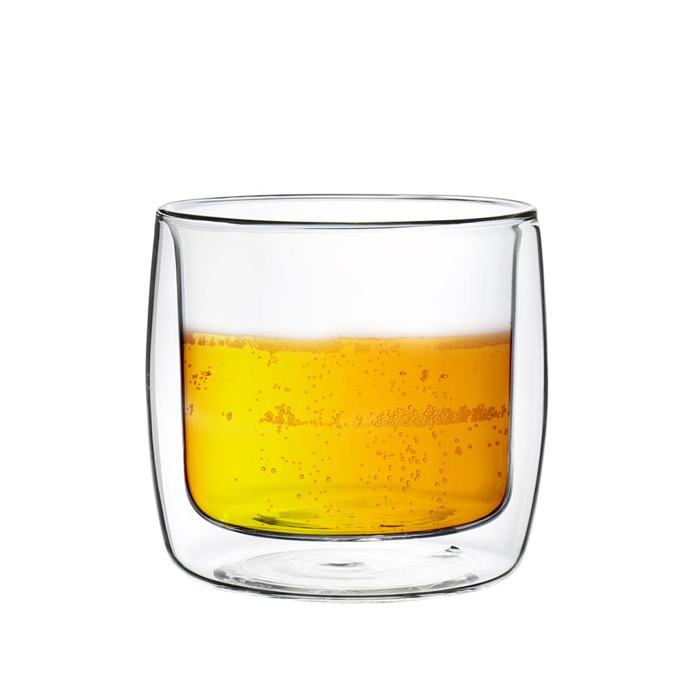 FUSHIMA富島 英倫系列雙層耐熱玻璃杯330ML