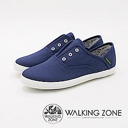WALKING ZONE 帆布系列 防潑水果漾休閒 女鞋-丹寧藍