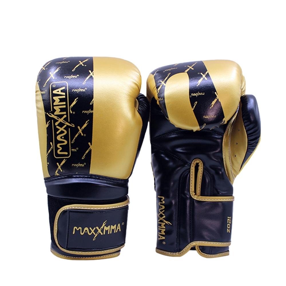 MaxxMMA 拳擊手套-3D黑金-散打/搏擊/MMA/格鬥/拳擊