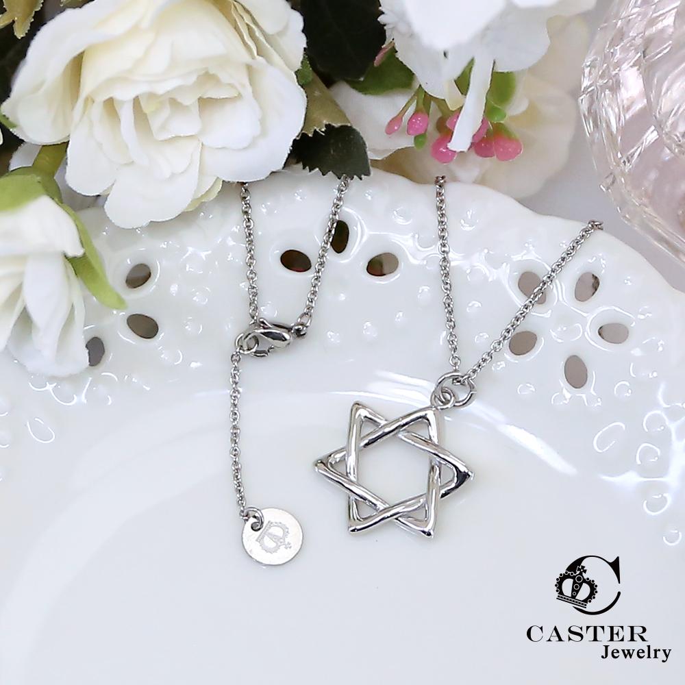 日本 凱斯特 CASTER 閃耀之星 時尚銀項鍊 防抗過敏 SUS316L頂級不鏽鋼飾品