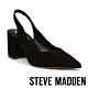 STEVE MADDEN-SLINGBACK 麂皮尖頭繞踝粗跟高跟女鞋-黑色 product thumbnail 1