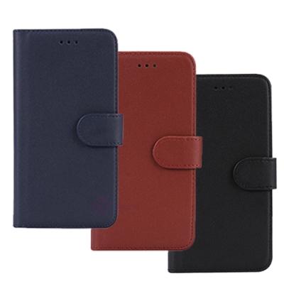 亞古奇 iPhone X/Xs 5.8吋柔軟羊紋二合一可分離式兩用皮套-藍棕黑