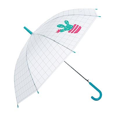 樂嫚妮 自動開傘/直立雨傘-多肉植物仙人掌- 綠