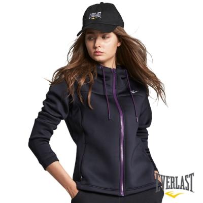 【EVERLAST】女款太空棉連帽外套-黑色
