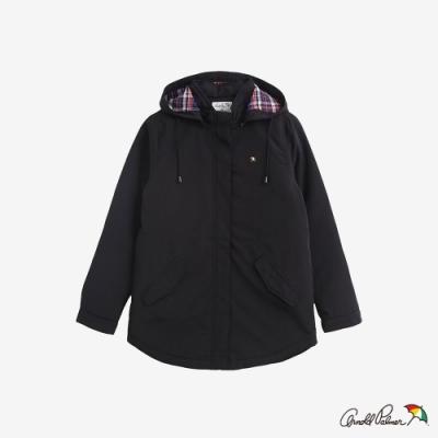 Arnold Palmer -女裝-格紋帽裡尼龍外套-黑