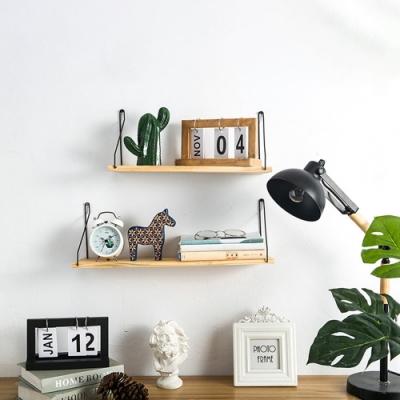 【Cap】木質一字隔板牆上置物架