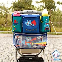 QBabe 600D超大容量寶寶車用收納掛袋-飛機