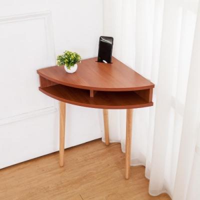 Bernice-三角造型邊几/牆角小茶几/邊桌-手機擴音功能-DIY-45x45x62cm