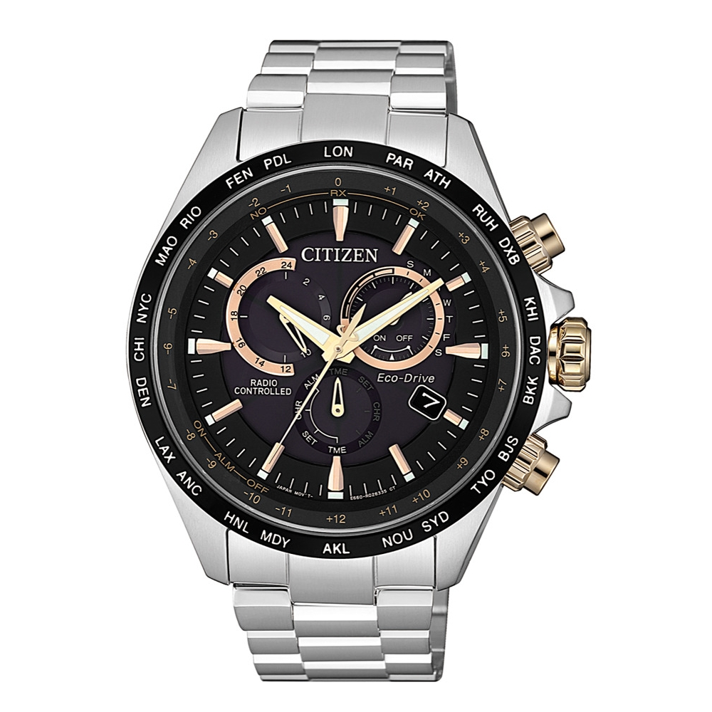 CITIZEN 浩瀚時空電波光動能腕錶/CB5834-86E