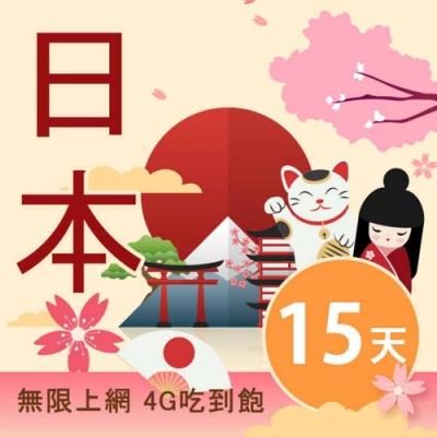 【Smart Go】日本 網卡 15日 4G 不降速 上網 吃到飽 上網 SIM卡