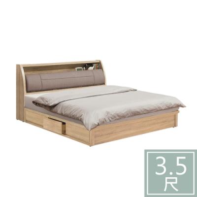 柏蒂家居-瑞莎3.5尺單人床組(床頭箱+抽屜床底/不含床墊)