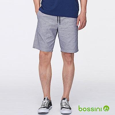 bossini男裝-條紋輕便短褲岩灰