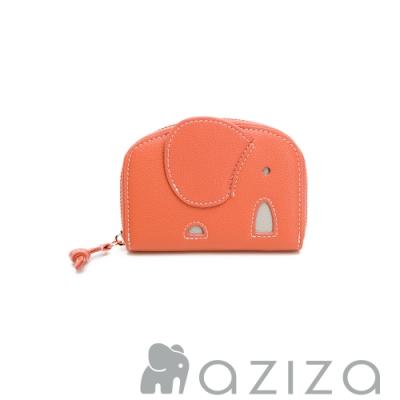 aziza 象型分層零錢包 珊瑚紅