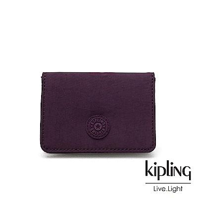 Kipling 深紫素面實用短夾-ALETHEA