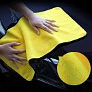 EZlife雙色超柔超吸水洗車巾2入組(30*30cm)