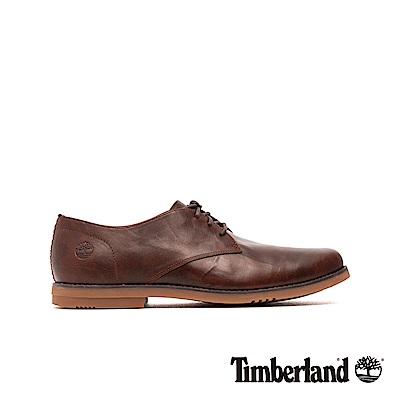 Timberland 男款棕色全粒面牛津鞋|A22JE
