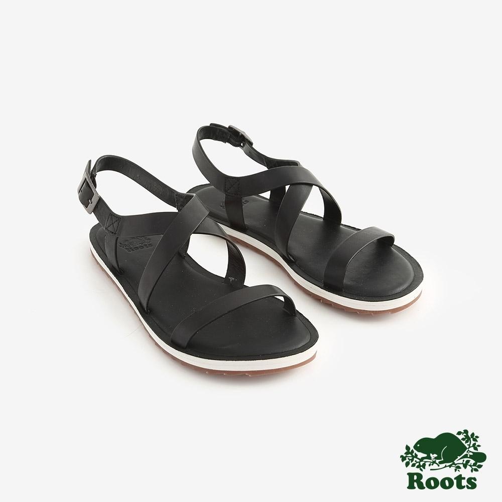 Roots女鞋- 尼爾森涼鞋-黑