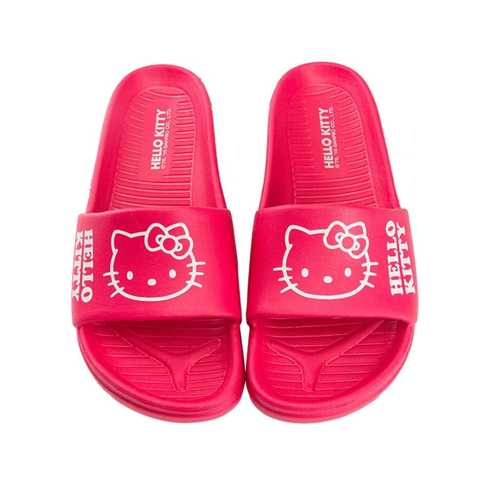 HELLO KITTY艾樂跑女鞋-素色防水拖鞋-桃紅/黑(917001)